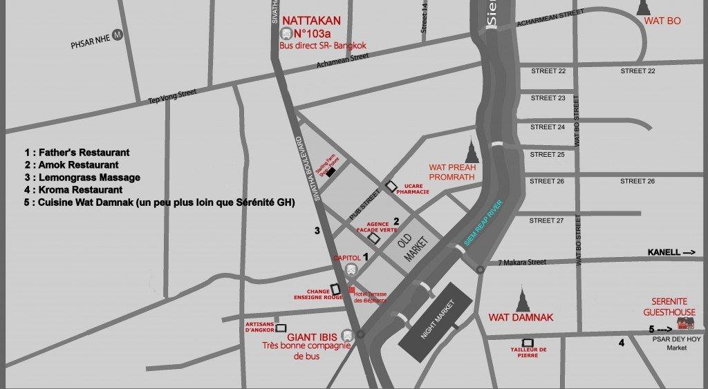 Plan detaille Sérénité Guesthouse