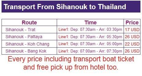 horaire de Sihanoukville 2